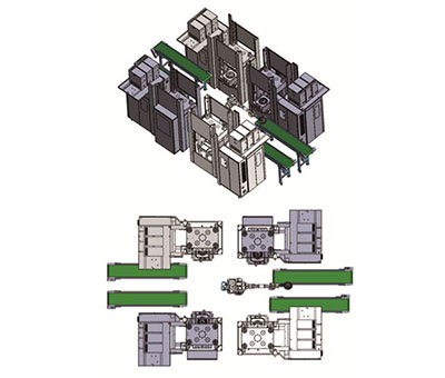 What is the performance of the injection molding machine manipulator relative to the manual production efficiency?