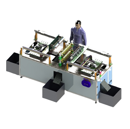 Rubber automatic mold core removal and demoulding machine